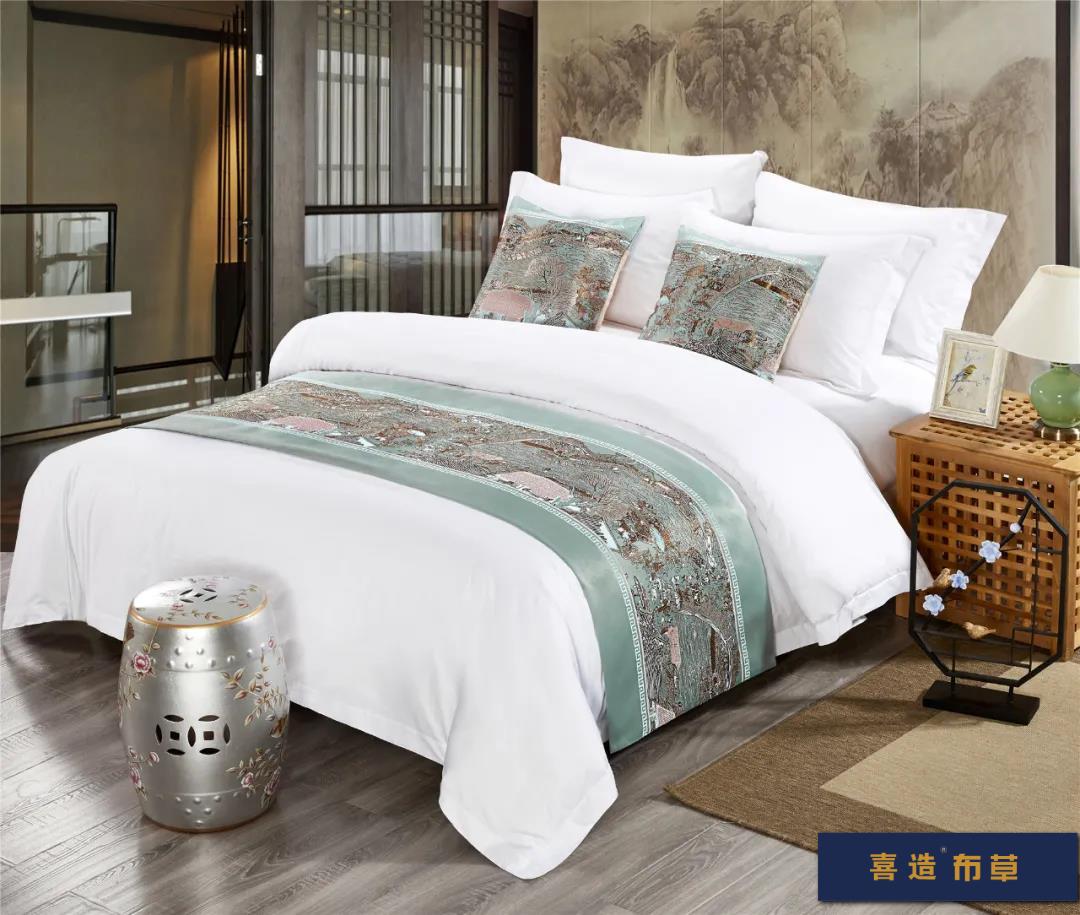 喜造布草·酒店床尾巾定做高端五星级酒店宾馆床品床尾巾166428