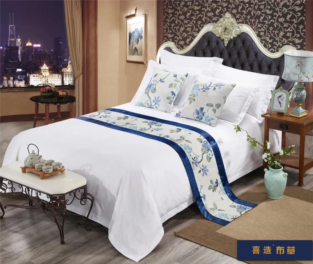 喜造布草·酒店床尾巾定做高端五星级酒店宾馆床品床尾巾166421