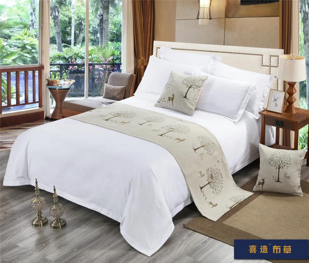 喜造布草·酒店床尾巾定做高端五星级酒店宾馆床品床尾巾166420