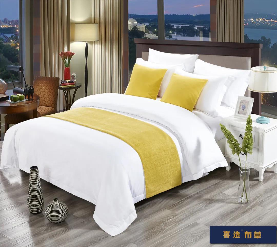 喜造布草·酒店床尾巾定做高端五星级酒店宾馆床品床尾巾166419