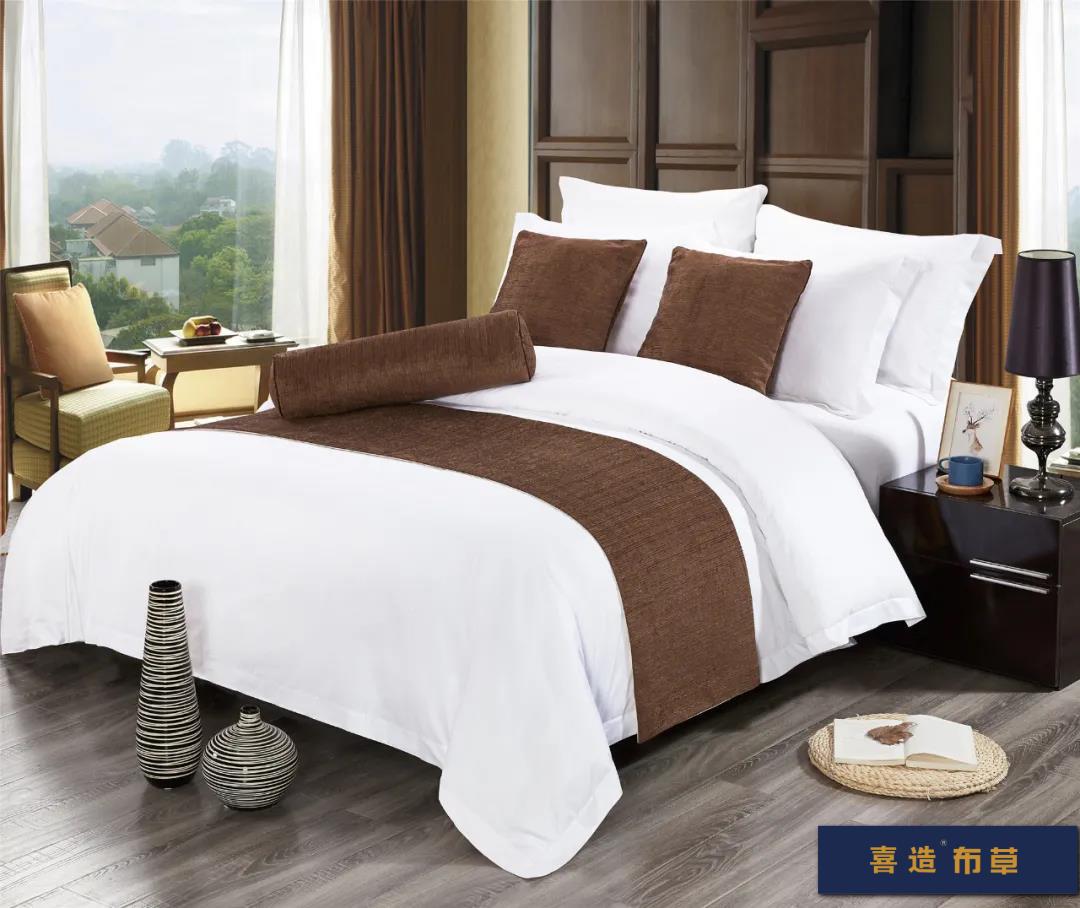 喜造布草·酒店床尾巾定做高端五星级酒店宾馆床品床尾巾166416